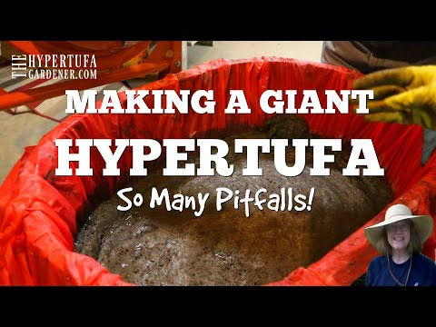 I Made Another Giant Hypertufa- So Many Problems!
