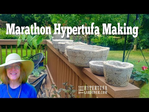 A Marathon Hypertufa Making Session - Made 9 Planters In A Few Hours
