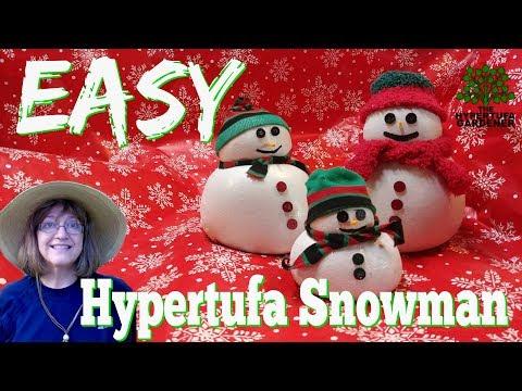 Hypertufa Snowman - An Easy Overnight Project, Make A Family!