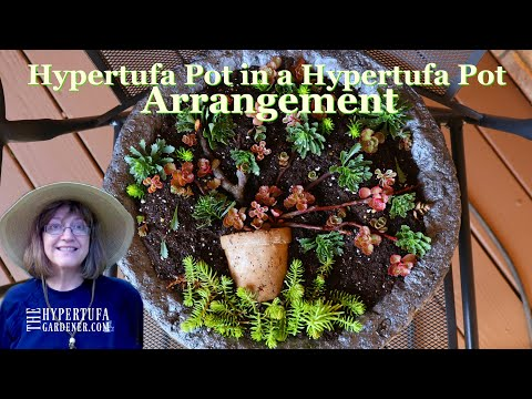 I Made It! Hypertufa Pot in a Hypertufa Pot Arrangement