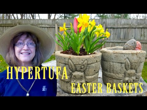 Hypertufa Easter Basket Planters - Easy to Make