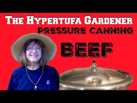 Pressure Canning Beef Roast from The Hypertufa Gardener