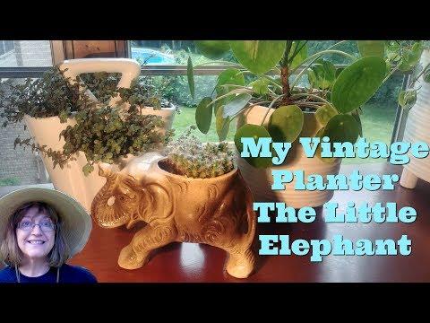 Vintage Planters - No Holes Drilled! My Little Elephant Keepsake