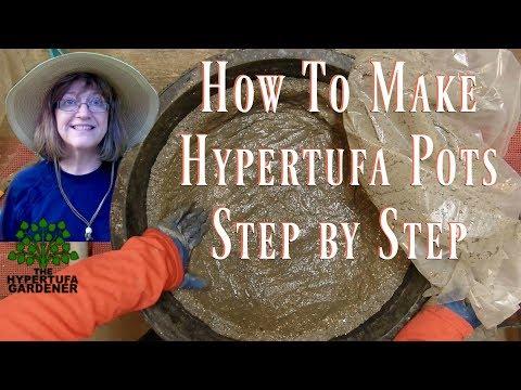 Making a Hypertufa Bowl for a Crevice Garden