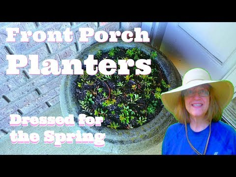 Front Porch Planters - All Dressed Up Porch Pots