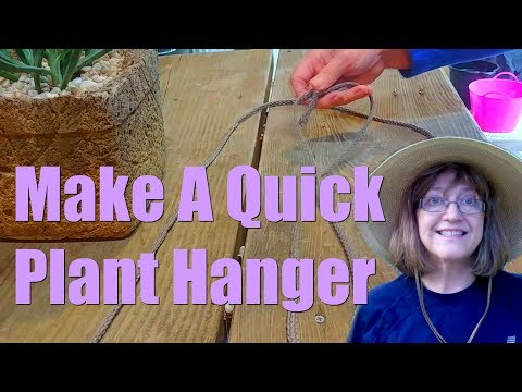 How To Make Simple Plant Hangers Cheaply!