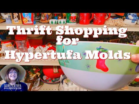Let's Go Thrift Store Shopping - Choosing Hypertufa Molds & More