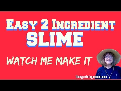 Easy Two Ingredient Slime and How to Make It -The Procedure