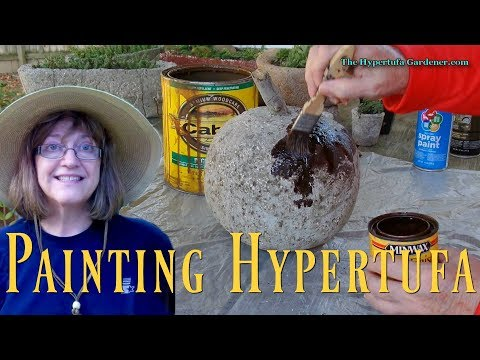 Yes, You Can Paint Hypertufa!