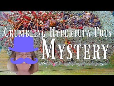 Crumbling Hypertufa Pots Mystery. Acid Rain? Dumping Fuel?