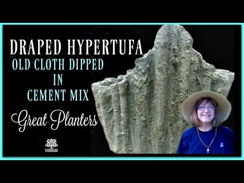 How to Make Draped Hypertufa Planters - Part 1
