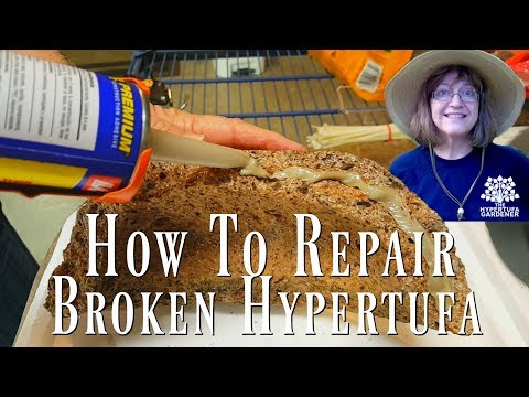 How to Fix a Broken Hypertufa Bowl