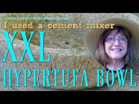 XXL Trough Planters Made with Hypertufa - It's Cement Mixer Time!