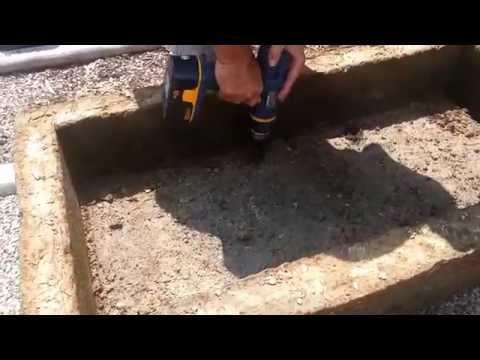 Drilling Drainage Holes In Hypertufa Trough