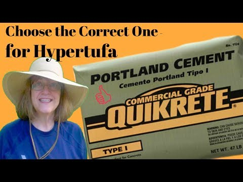 Which Bag Do I Buy to Make Hypertufa Pots? Portland Cement!