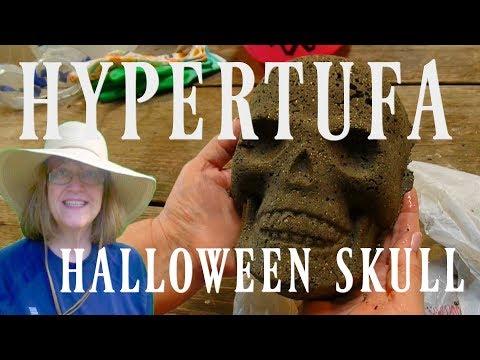 Hypertufa Halloween Skull - Make it Yourself - So Easy