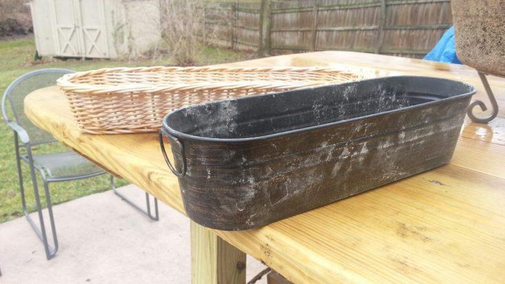 long pan and basket