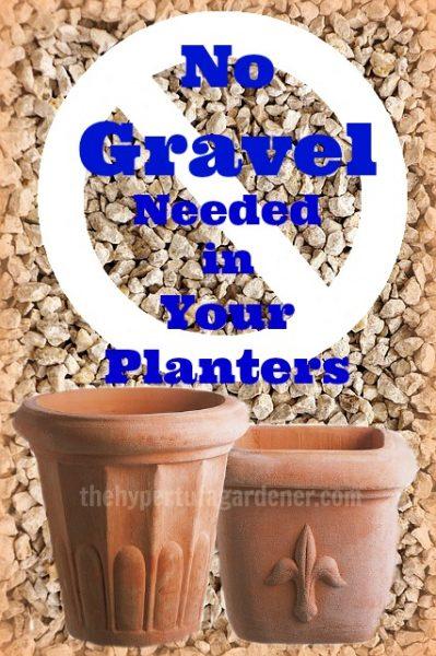 No Gravel Needed in Planters