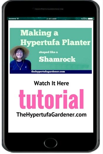 YouTube video for Shamrock Hypertufa Planter