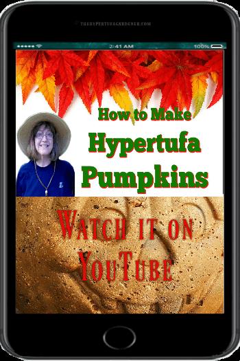 video on how to make Hypertufa pumpkins on YouTube