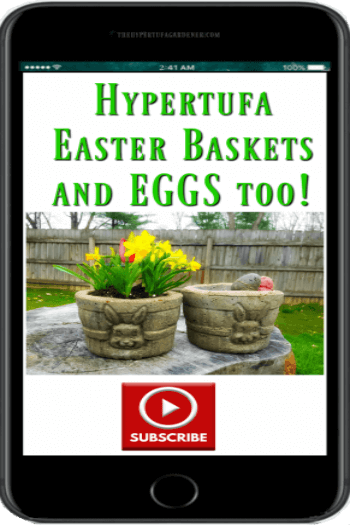 small bunny Hypertufa-Easter-Baskets on YouTube