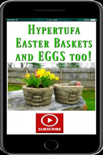 small bunny Hypertufa-Easter-Baskets on YouTube
