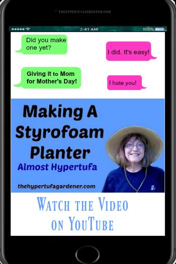 vidoe cover on making Styrofoam Planter from The Hypertufa Gardener