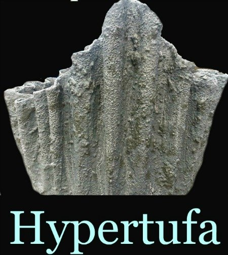 Draped hypertufa planter