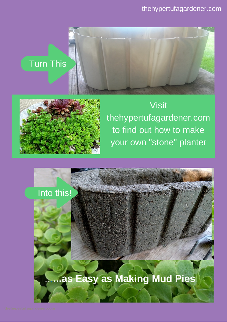 Making a Hypertufa Planter using great hypertufa molds