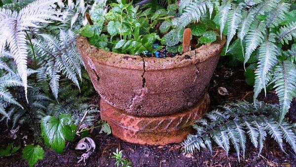 Broken Pot On Pedestal