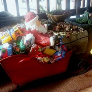 Santa On Deck-hypertufa-gardener