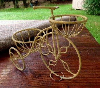 Hypertufa Bike Baskets