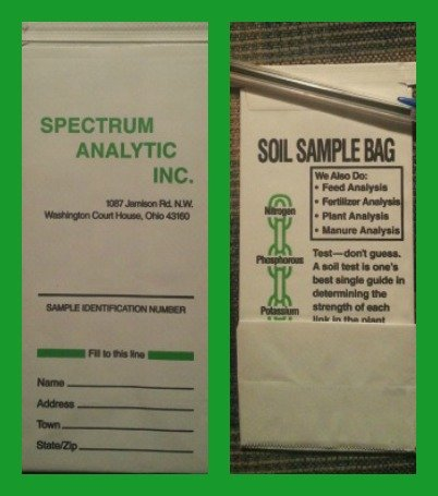 Mailer for your soil sample