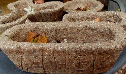 Autumn Hypertufa Pots