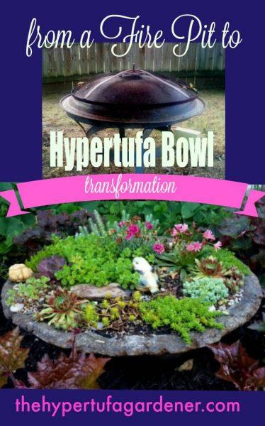 How to Make A Hypertufa Bowl From A Fire Pit - The Hypertufa Gardener.com