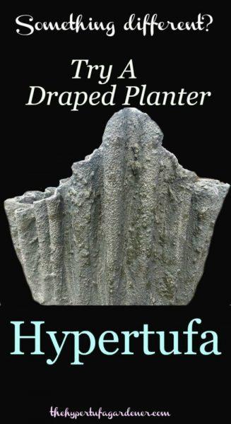 draped hypertufa or cement fabric pots from http://www.thehypertufagardener.com/oh-the-possibilities-draped-hypertufa/