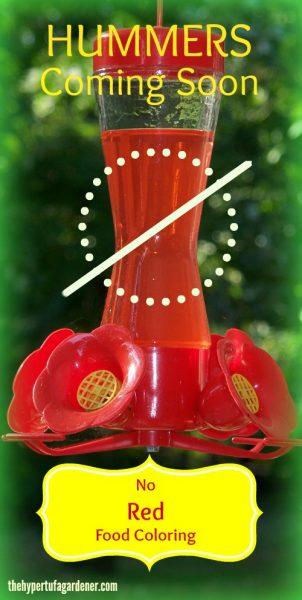 No Red Coloring in your feeders -The Hypertufa-Gardener