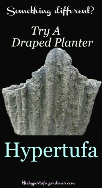 Draped Hypetufa Planter with Video and Instructions
