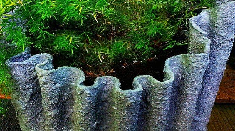Draped Hypertufa Planters