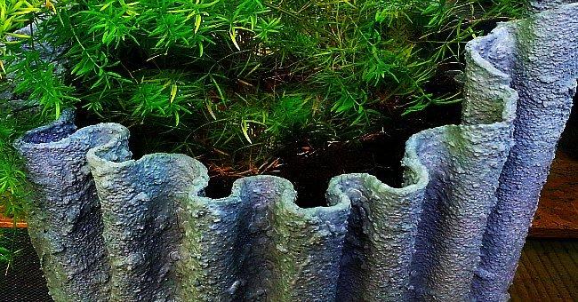 draped hypertufa pot - the hypertufa gardener