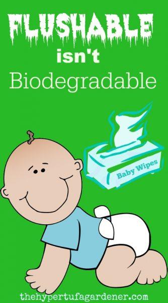 Flushable Isn't Biodegradable - The Hypertufa Gardener