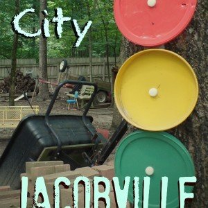 Jacob's Little City - created by our imagination, he fills in the rest.