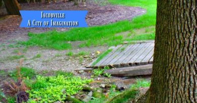 Jacobville - A City of Imagination Bridge on road to Jacobville
