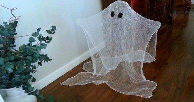 Halloween decorating idea- cute and easy ghosts - The Hypertufa Gardener