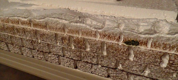 Brick wall with-snow-on-top - The Hypertufa Gardener
