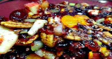 Delicious Apple Cranberry Fruit Salad - The Hypertufa Gardener
