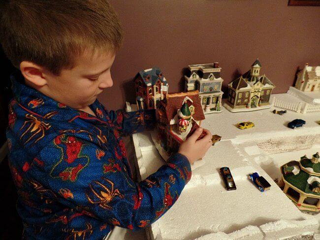 Jacob and The Christmas Houses Village - The Hypertufa Gardener