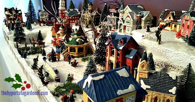 Little Christmas Village Houses for kids - The Hypertufa Gardener