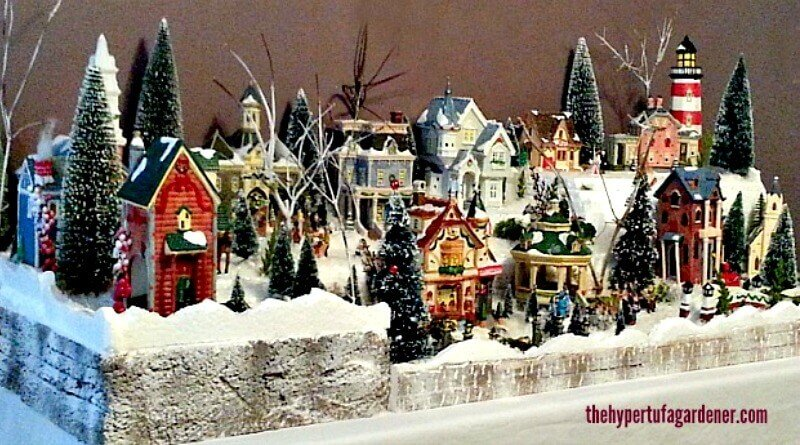 my miniature christmas village set - Miniature Christmas Village