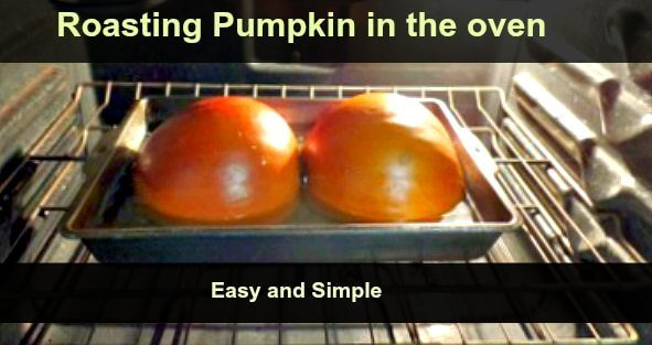 Roasting Pumpkin for Homemade Pumpkin Pie - The Hypertufa Gardener